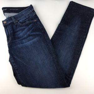 7 For All Mankind Roxanne Dark Wash Crop Jeans